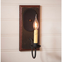 Irvin's Primitive Wilcrest Sconce In Americana Espresso With Salem Brick
