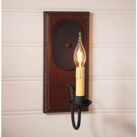 Irvin's Primitive Wilcrest Sconce In Americana Plantation Red