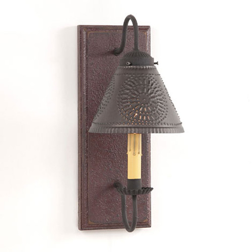 Irvin's Crestwood Wall Sconce Finished In Americana Plantation Red