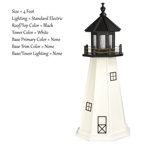 Amish Made Wood Garden Lighthouse Cape Cod Model