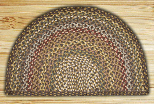 Earth Rugs™ Slice Braided Jute Rug Pictured In: Fir, & Ivory
