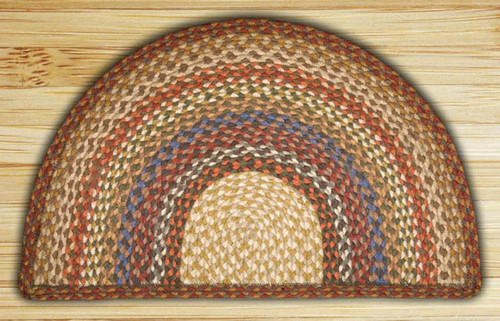 Earth Rugs™ Slice Braided Jute Rug Pictured In: Honey, Vanilla, & Ginger