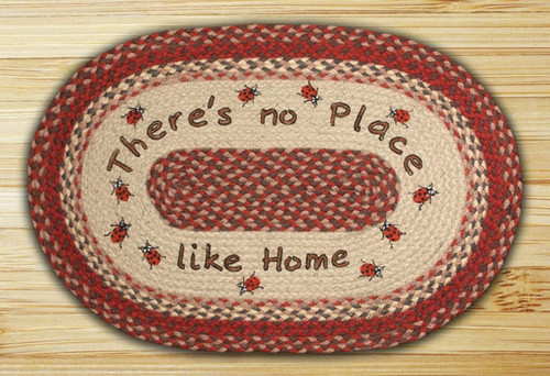 Earth Rugs™ Oval Patch Rug - No Place Like Home - OP-012