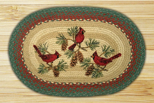 Earth Rugs™ Oval Patch Rug - Cardinals - OP-025
