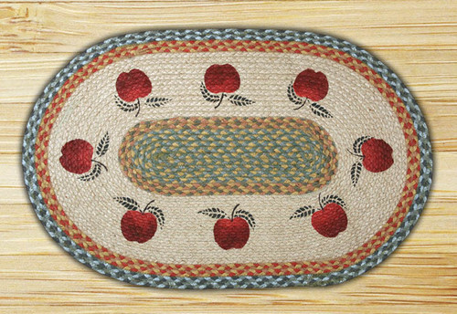 Earth Rugs™ Oval Patch Rug - Apples - OP-042