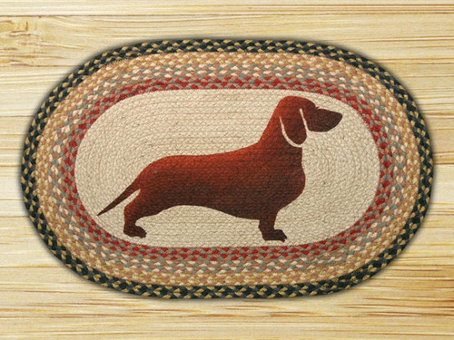 Earth Rugs™ Oval Patch Rug - Dachshund - OP-057