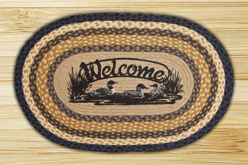 Earth Rugs™ Oval Patch Rug - Welcome Loons - OP-079