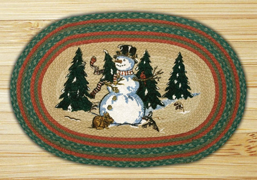 Earth Rugs™ Oval Patch Rug - Winter Wonderland - OP-246