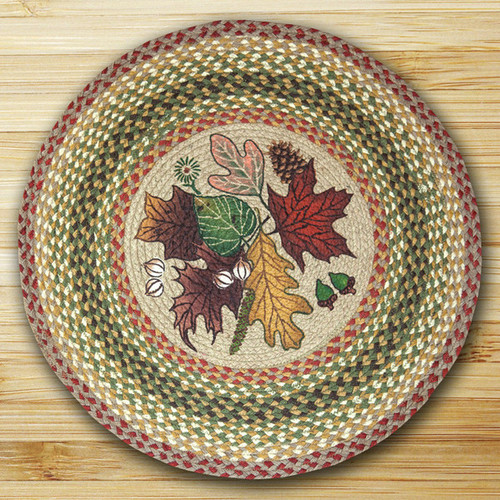 Earth Rugs™ Oval Patch Rug - Autumn Leaves - RP-024