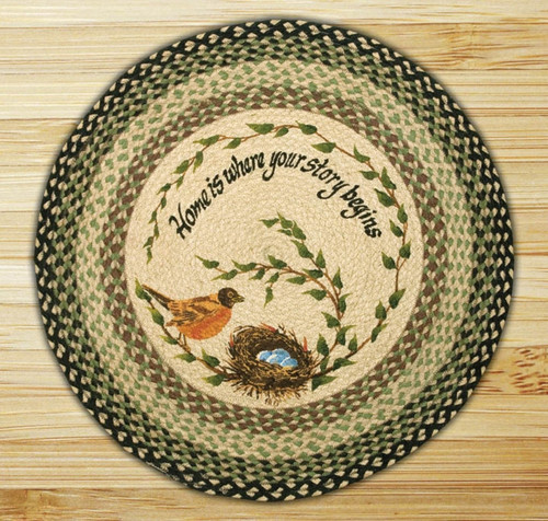 Earth Rugs™ Oval Patch Rug - Robins Nest - RP-121