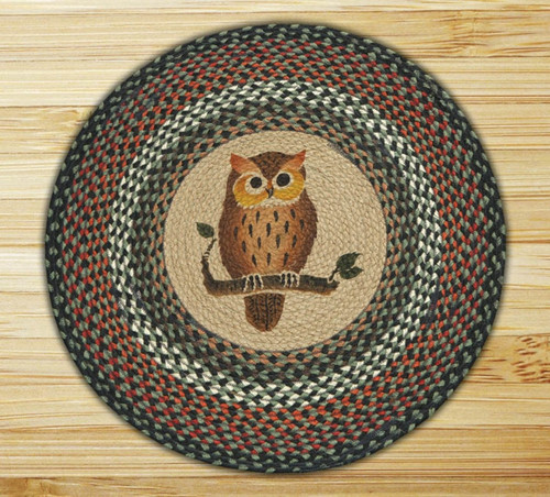 Earth Rugs™ Oval Patch Rug - Owl - RP-220