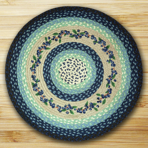 Earth Rugs™ Oval Patch Rug - Blueberry Vine - RP-312