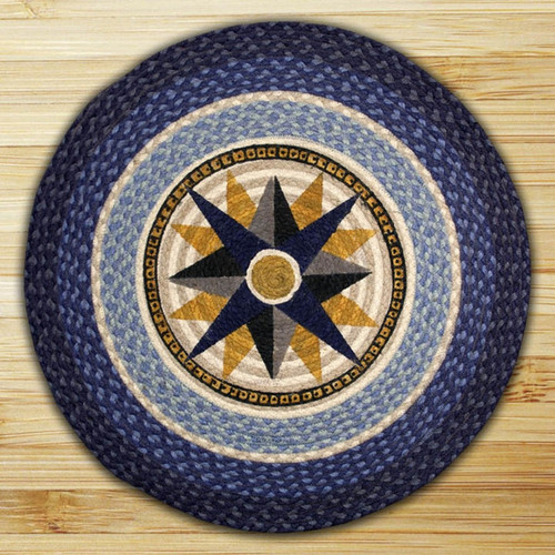 Earth Rugs™ Oval Patch Rug - Compass - RP-350