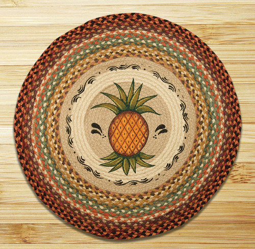 Earth Rugs™ Oval Patch Rug - Pineapple - RP-375