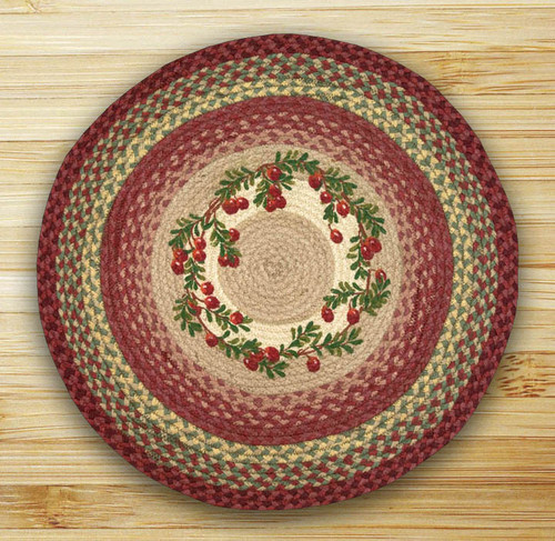 Earth Rugs™ Oval Patch Rug - Cranberries - RP-390