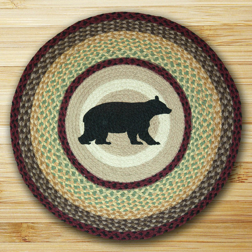Earth Rugs™ Oval Patch Rug - Cabin Bear - RP-395