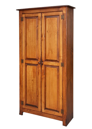 Amish Handcrafted 2 Door Pantry by Vintage Creations By Sam - Finished In Antique Finish With Heritage Stain