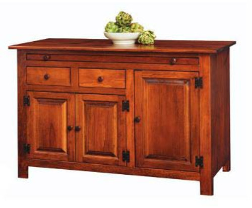 Amish Handcrafted Large Hoosier Buffet by Vintage Creations By Sam - Finished In Antique Finish With Heritage Stain