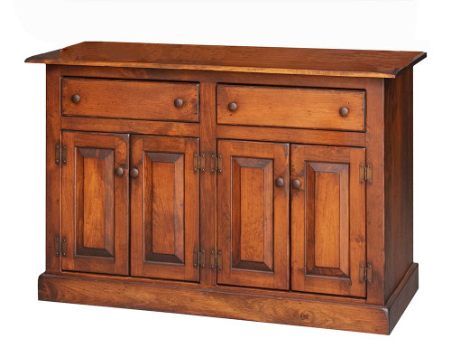 Amish Handcrafted 4 Foot Buffet by Vintage Creations By Sam - Finished In Antique Finish With Heritage Stain