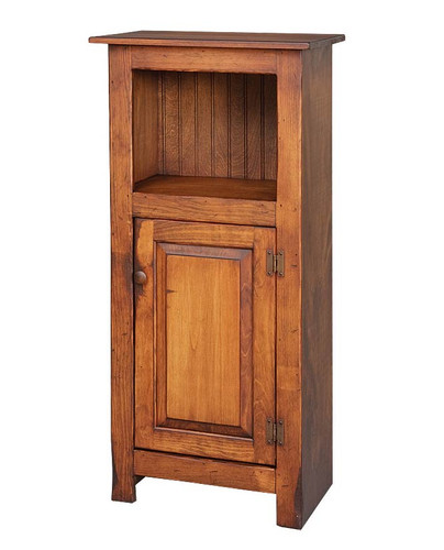 Amish Handcrafted Small Library Cabinet by Vintage Creations By Sam - Finished In Antique Finish, With Heritage Stain