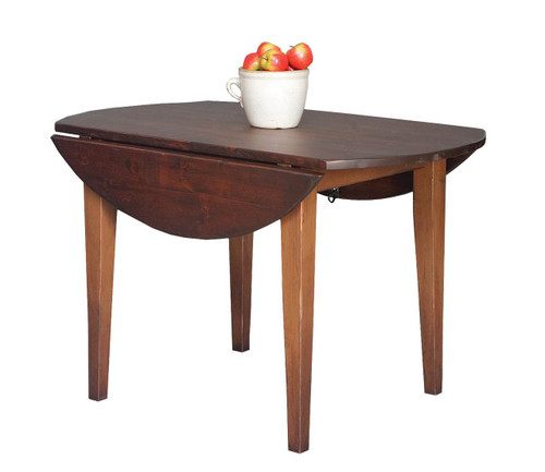 "Amish Handcrafted 5 Foot Farm Table With 3"" Shaker Legs by Vintage Creations By Sam - Finished With A Custom 2-Tone Finish"