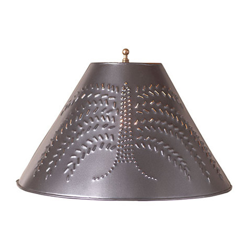 Irvin's Tinware Willow Tree Lamp Shade Finished In Smokey Black