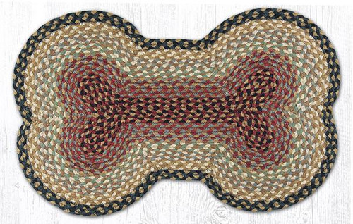 Earth Rugs™ Braided Jute Dog Bone Rug Pictured In: 63-LG057DB