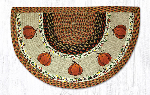 Earth Rugs™ Braided Jute Printed Slice Rug - Harvest Pumpkins