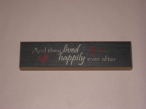 Happily Ever After Wood Sign
