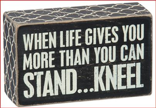 Box Sign Kneel