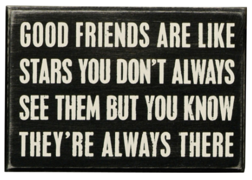 Good Friends Box Sign
