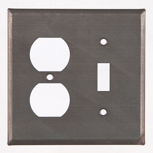 Blackened Tin Unpierced Outlet and Switch Plate Cover