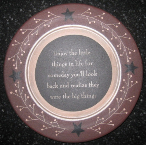 Enjoy Little Things Plate