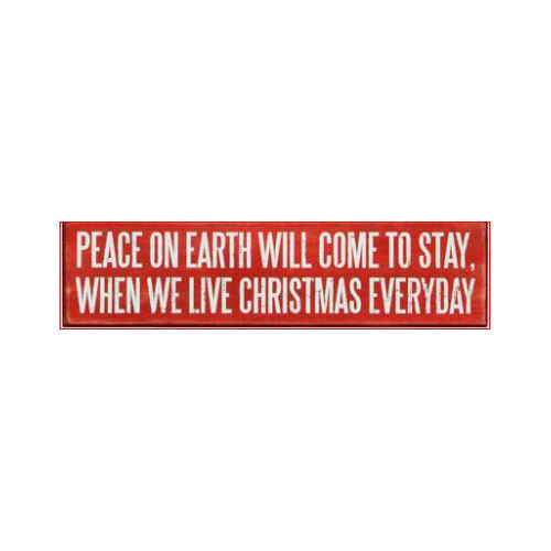 Peace on Earth Box Sign