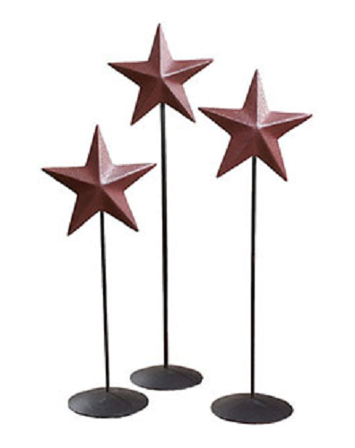 Burgundy Barn Star Pedestal