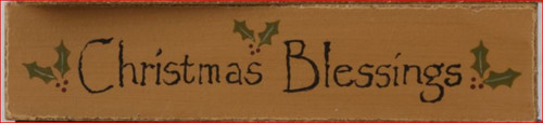 Christmas Blessings Sign