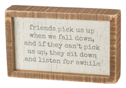 Inset Box Sign Friends Pick You Up
