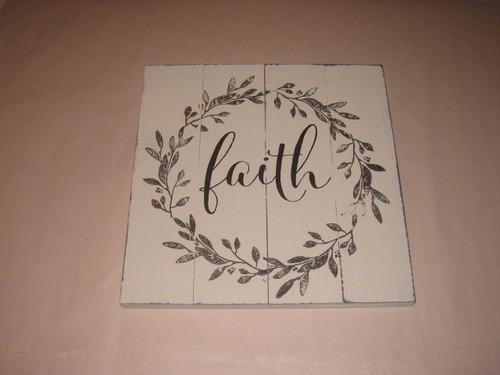 Faith Sculpted Wood Sign