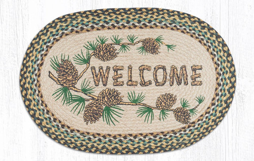 Earth Rugs™ Oval Patch Rug - Welcome - OP-51
