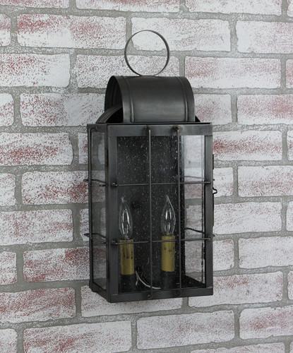 Katie's Handcrafted Lighting Medium Danbury Outdoor Wall Lantern - Finished In Dark Brass