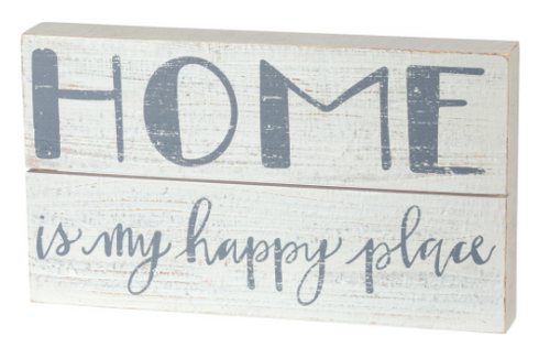 Home Is My Happy Place Box Sign