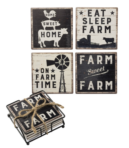 Farm Sweet Farm Coaster Set