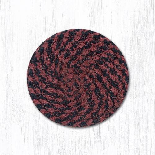 """Braided Cotton 4"""" Round Coaster"""