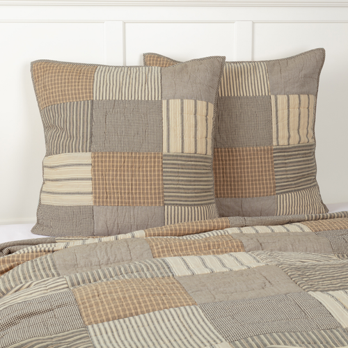Sawyer Mill Charcoal Quilted Euro Sham by VHC Brands