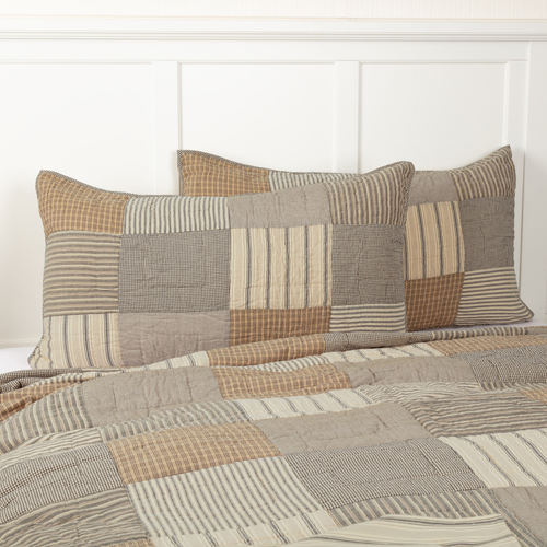 Sawyer Mill Charcoal Collection Sham by VHC Brands - King