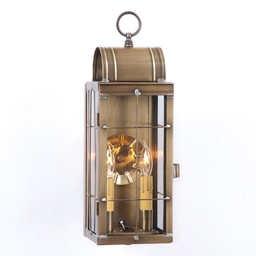 Irvin's Queen Arch Outdoor Lantern Finished In Weathered Brass