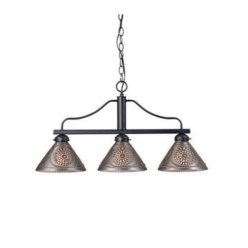 Irvin's Barrington Medium Bar-Island Light Finished In Kettle Black
