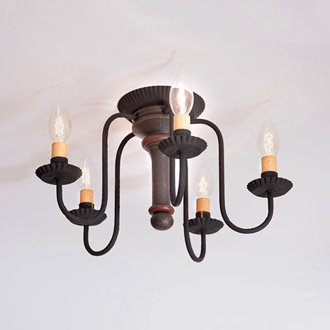 Irvins tinware berkshire ceiling light primitive lighting irvins berkshire ceiling light in sturbridge black click here to enlarge aloadofball Image collections