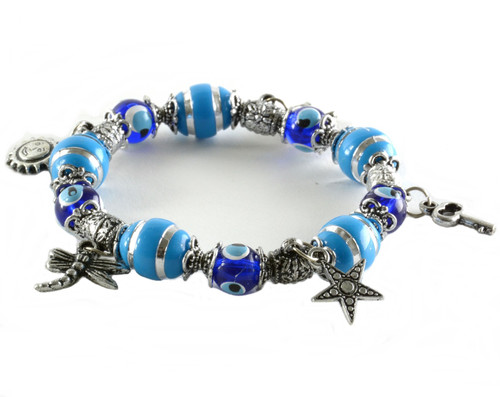 Charm Bracelet Evil Eye Good Luck Beads Nazar Boncuk Charms