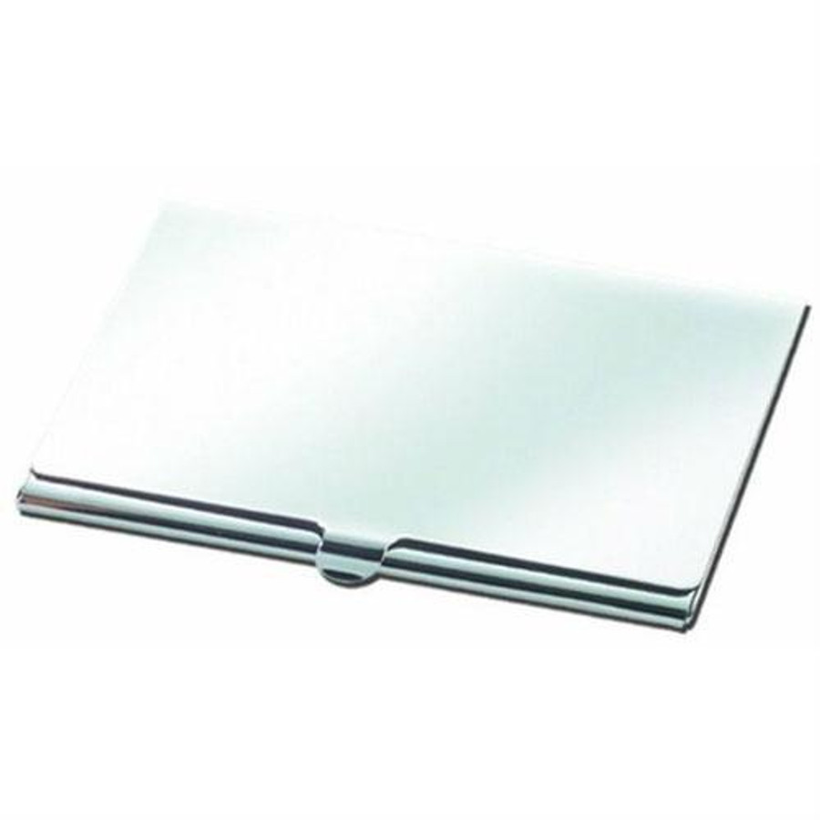 natico originals smooth silver business card case - Silver Business Card Holder